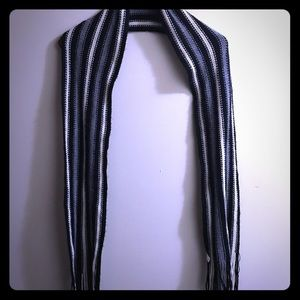 Black, grey and white scarf